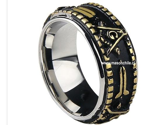 nuevo anillo masónico - master - masón, exclusivo original
