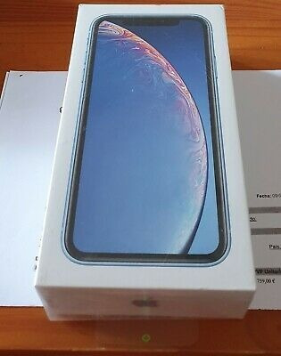 nuevo apple iphone xr - 128gb (blue) factory unlocked sealed
