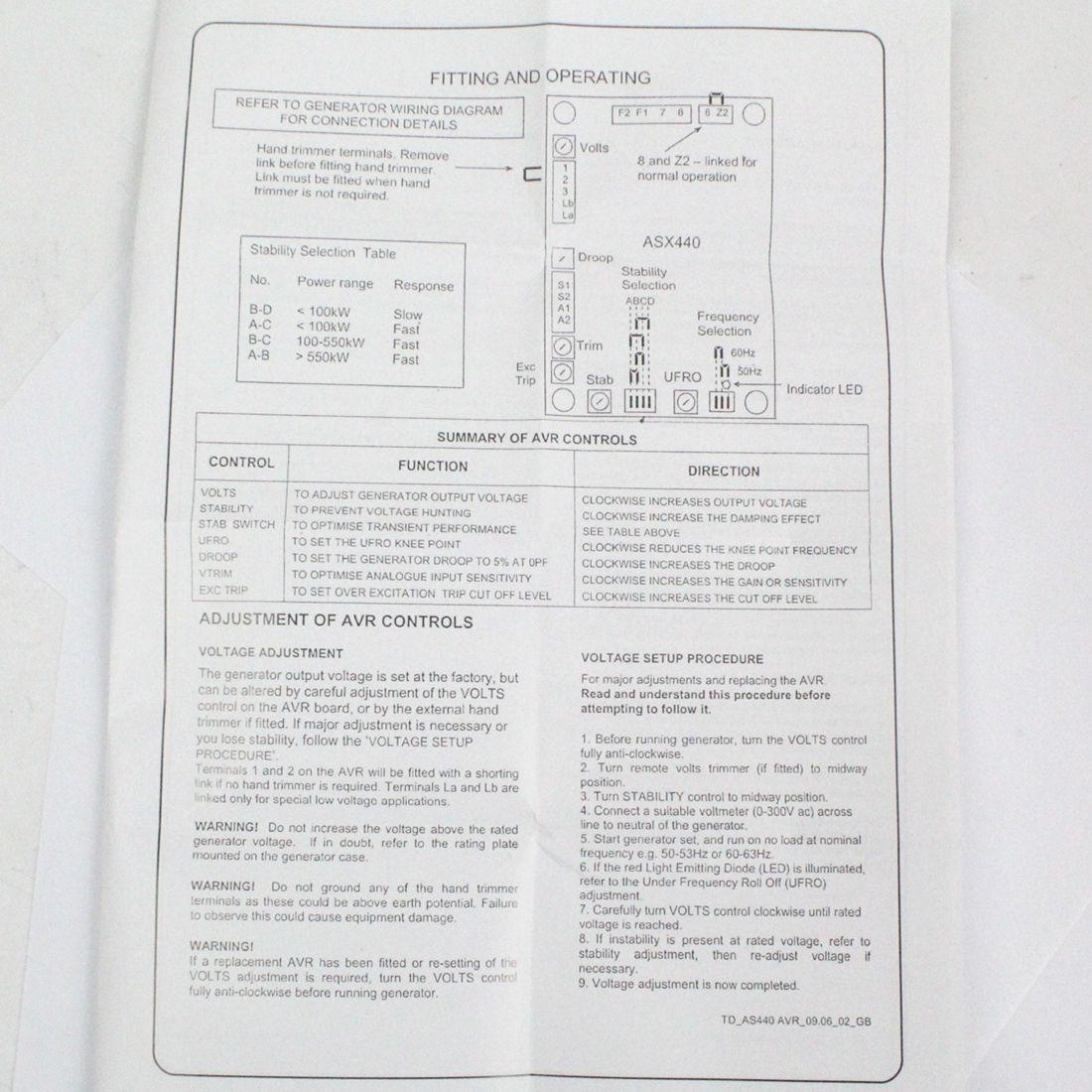 Nuevo Avr As440 Voltaje Automtico Regulador Repuesto Para Wiring Diagram Cargando Zoom