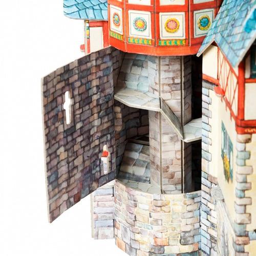 nuevo ayuntamiento medieval modelo a escala rompecabezas 3d