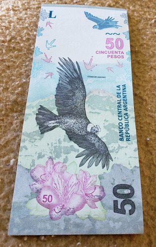 nuevo billete 50 pesos condor argentina 2018