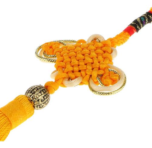 nuevo bordado de la suerte de nudo chino de la borla colgand