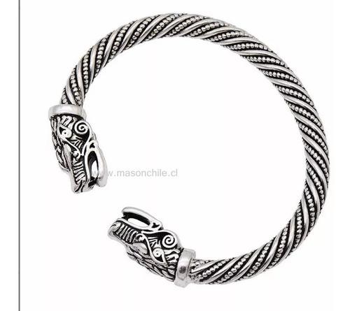 nuevo brazalete vikingo cabezas de serpientes  mega premium