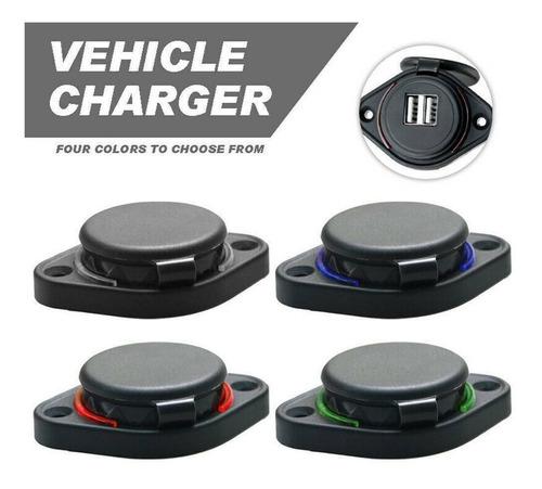 nuevo cargador usb con luz led para todo tipo de vehiculos.
