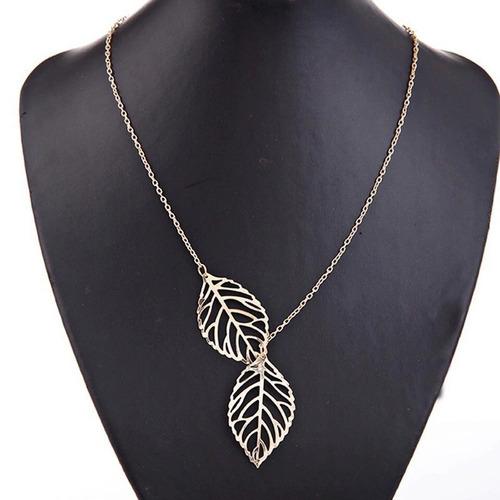 nuevo collar de hojas fashionfashion