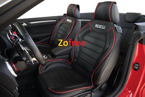 nuevo cubre asiento 3d negro rojo sparco individual / zofree