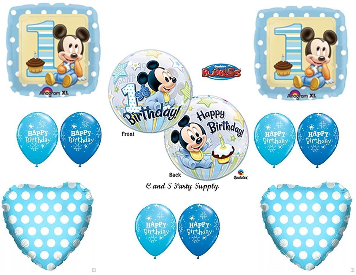 Nuevo Cumpleanos Del Bebe Mickey Mouse Primeros Globo