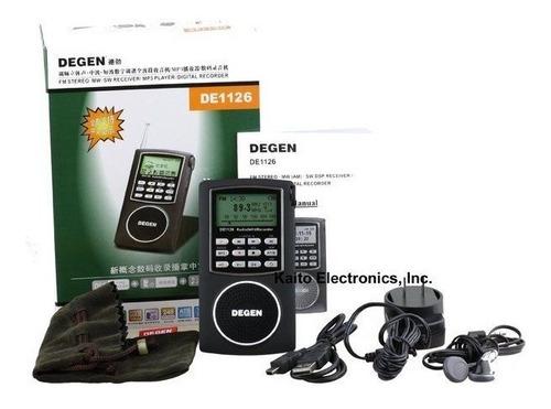 nuevo degen de1126 grabador de radio estéreo am / sw / fm u