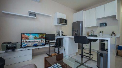 nuevo departamento de 2 hab en venta a pasos de la playa en colonia colosio playa del carmen p1705