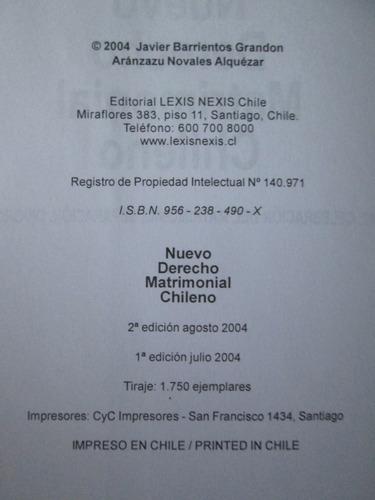 nuevo derecho matrimonial chileno. j barrientos derecho