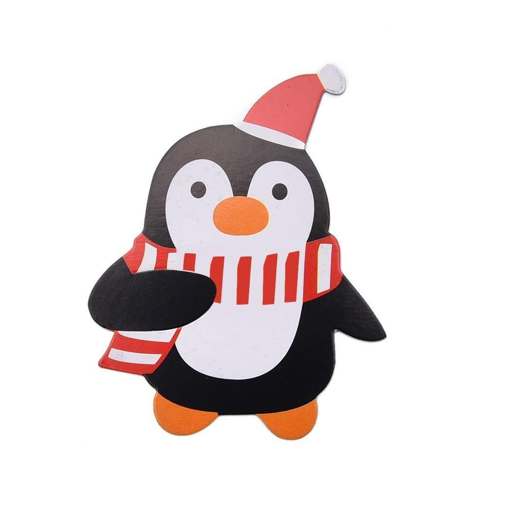 Nuevo Dibujos Animados Navidad Papá Muñeco De Nieve Pingü