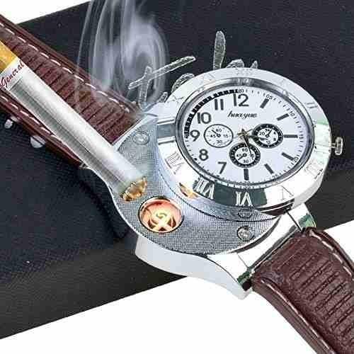 nuevo diseño reloj encendedor electrónico usb recargable