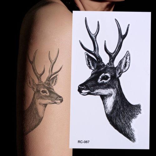 Nuevo Diseño Venado Elk Del Tatuaje Pegatinas Impermeables