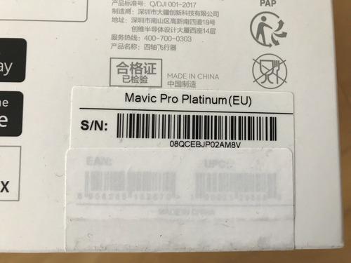 nuevo dji mavic pro platinum drone