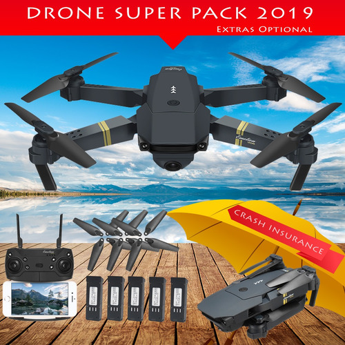 nuevo: drone x pro e58 cámara 2mp video 720p 1 batería