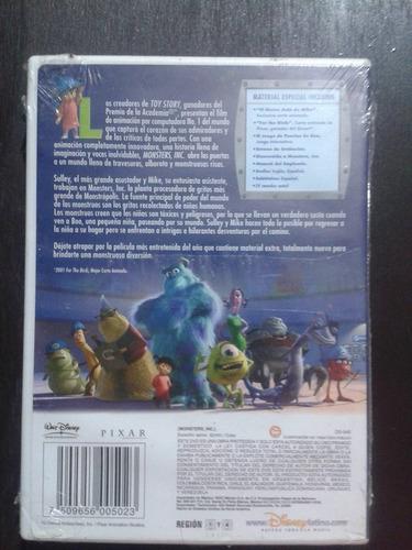 nuevo edicion especial 2 dvds monster inc disney pixar