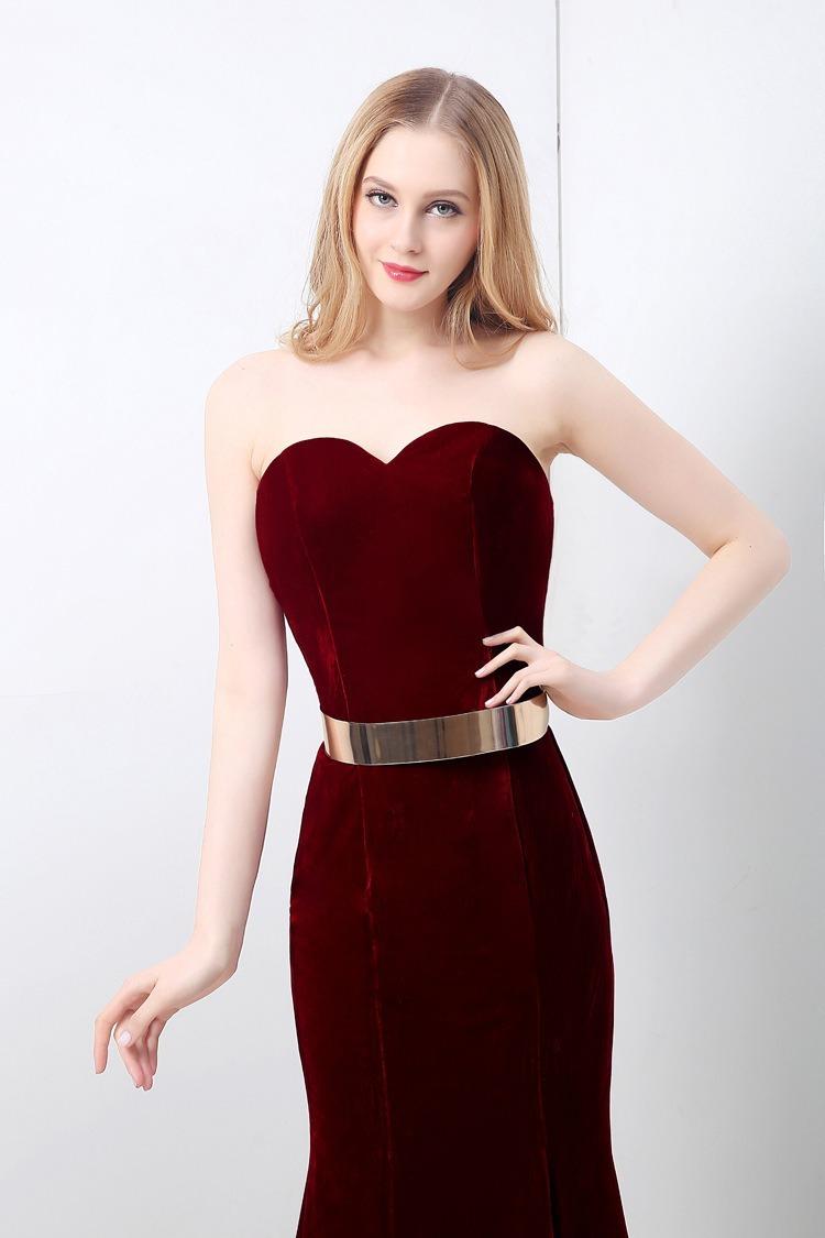 3de926aef nuevo elegante vestido rojo de noche largo fiesta boda vino. Cargando zoom.