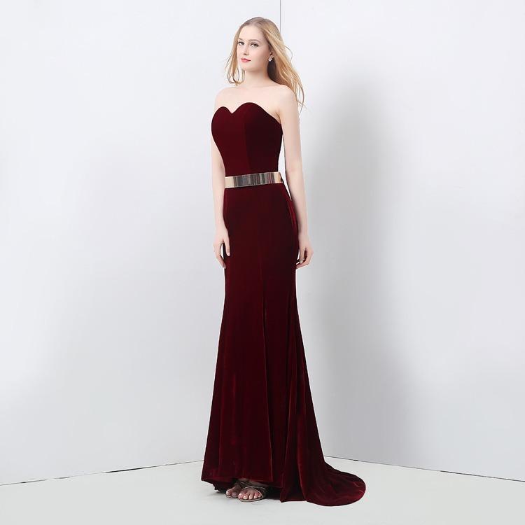 be0217625 Nuevo Elegante Vestido Rojo De Noche Largo Fiesta Boda Vino ...