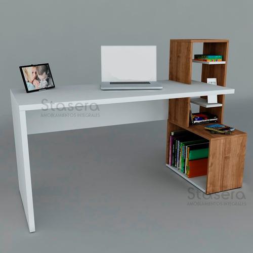 nuevo escritorio moderno mesa pc biblioteca mueble repisa
