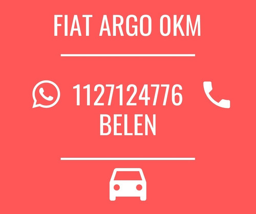 nuevo fiat argo 2020 0km - retira con $89.000 o tu usado!b