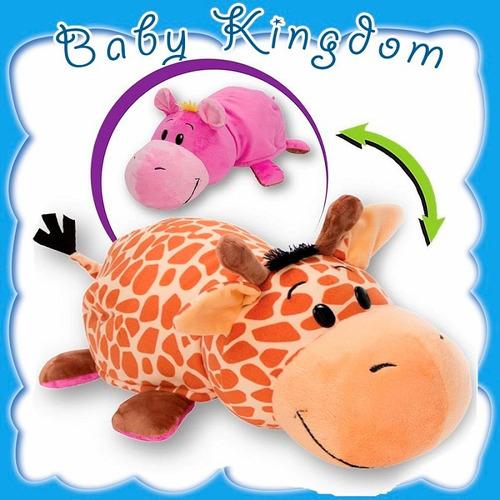 nuevo flipazoo 2 en 1 original geo jirafa - ava hipopotamo