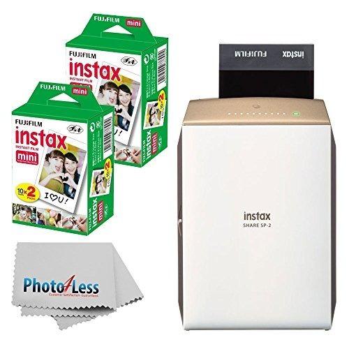 nuevo fujifilm instax share smartphone printer sp-2 (gold) f