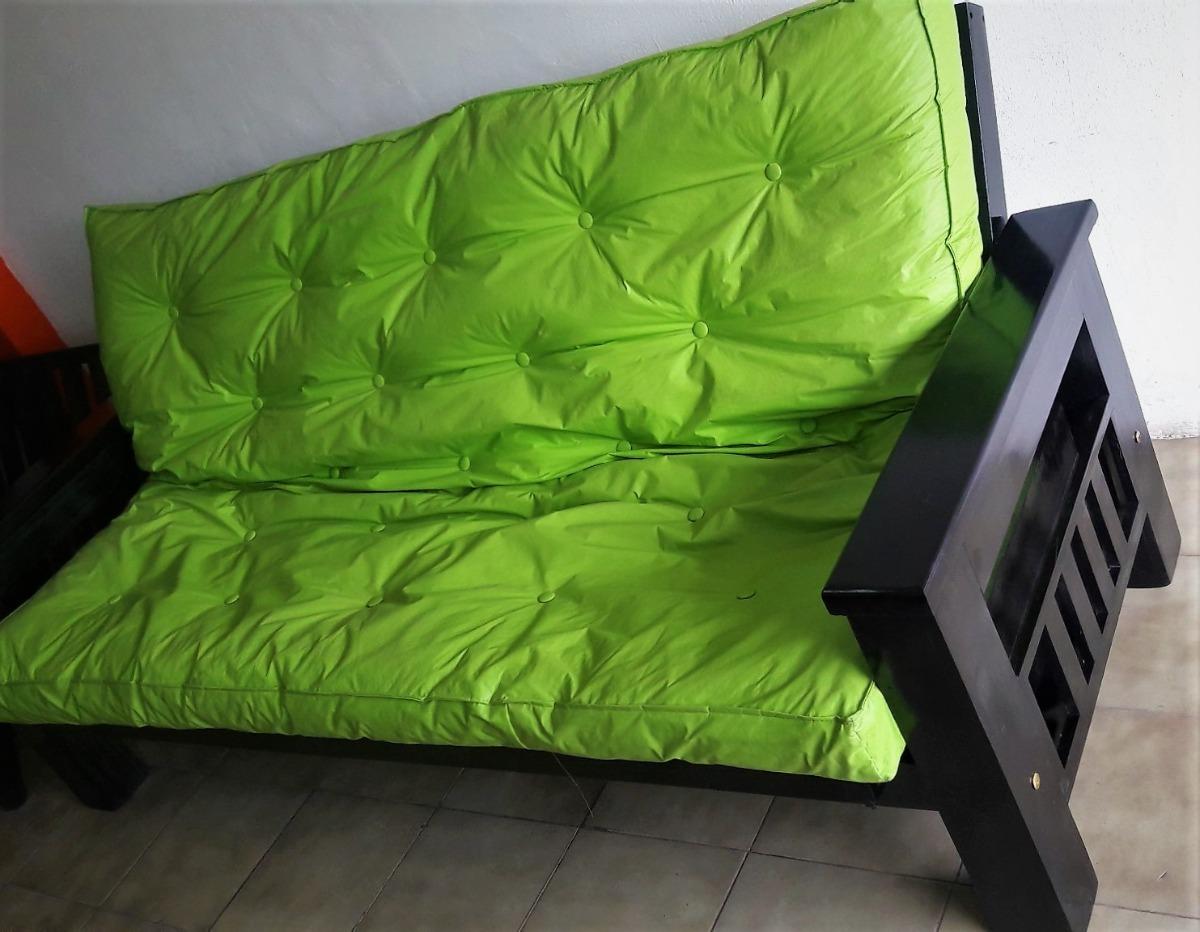 Nuevo Futon Sillon Sofa Cama Mueble Para Living Lustre Campo  # Muebles Relleno Solana