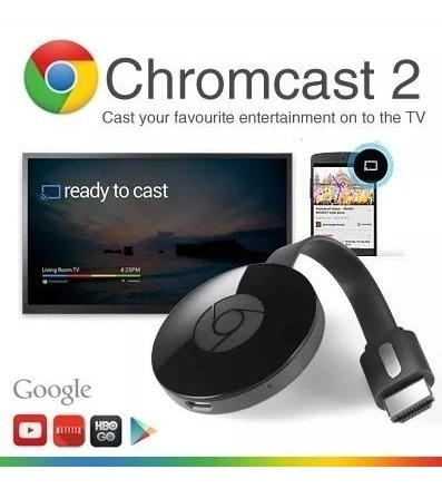 nuevo google chromecast 2 da generacion smart tv box netflix flow spotify streaming