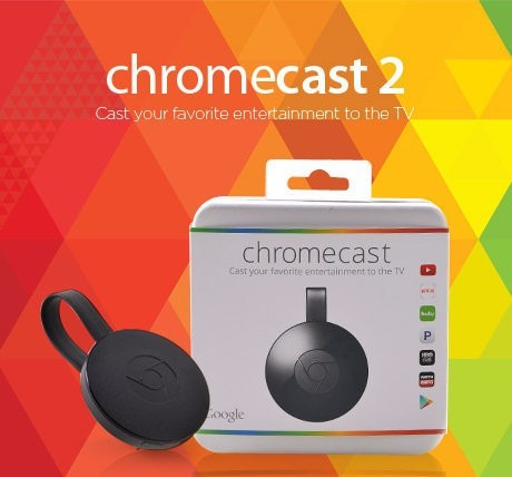 nuevo google chromecast 2 smart tv box netflix youtube hdmi