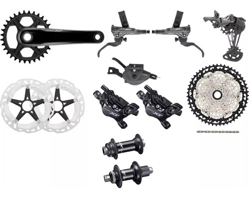 nuevo grupo shimano deore xt 12 velocidades - racer bikes