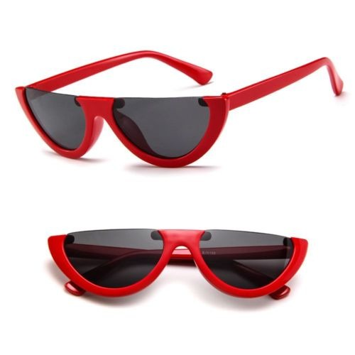 Nuevo Half Frame Gato Ojo Gafas De Sol... (red Gray) cdb5993cc43f