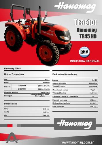 nuevo hanomag tr45 4x4 2018 precio final
