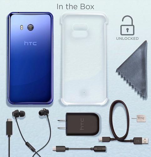 nuevo htc u11 64gb, 4gb de ram - sapphire blue - promovil