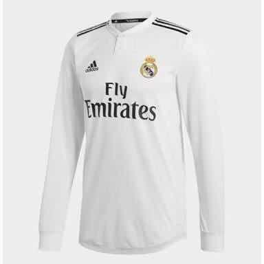 Nuevo Jersey Playera Real Madrid Manga Larga Local 2018-2019 ... c020db1d7602b
