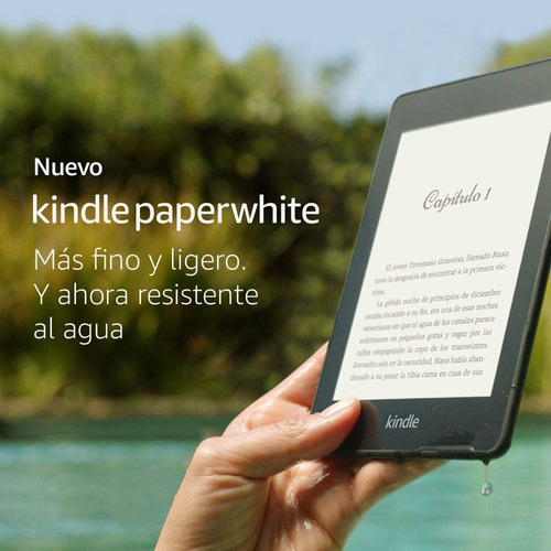 nuevo kindle paperwhite 4th 2019 sumergible de 8gb + regalo