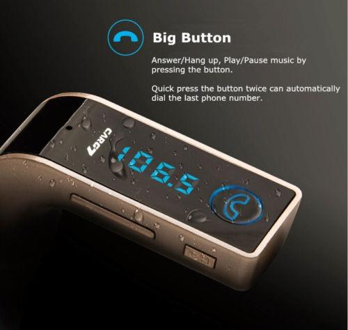 nuevo kit bluetooth manos libres mp3 fm transmisor tf usb