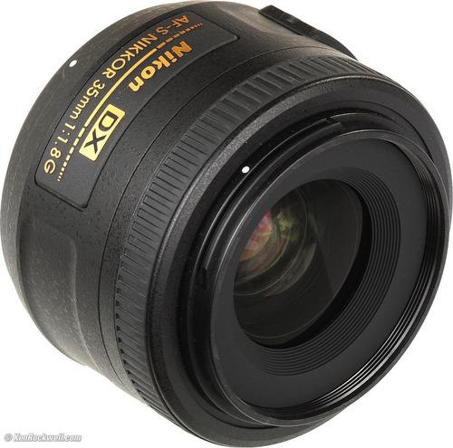 nuevo lente objetivo fijo nikon af-s 35mm f/1.8g dx maa