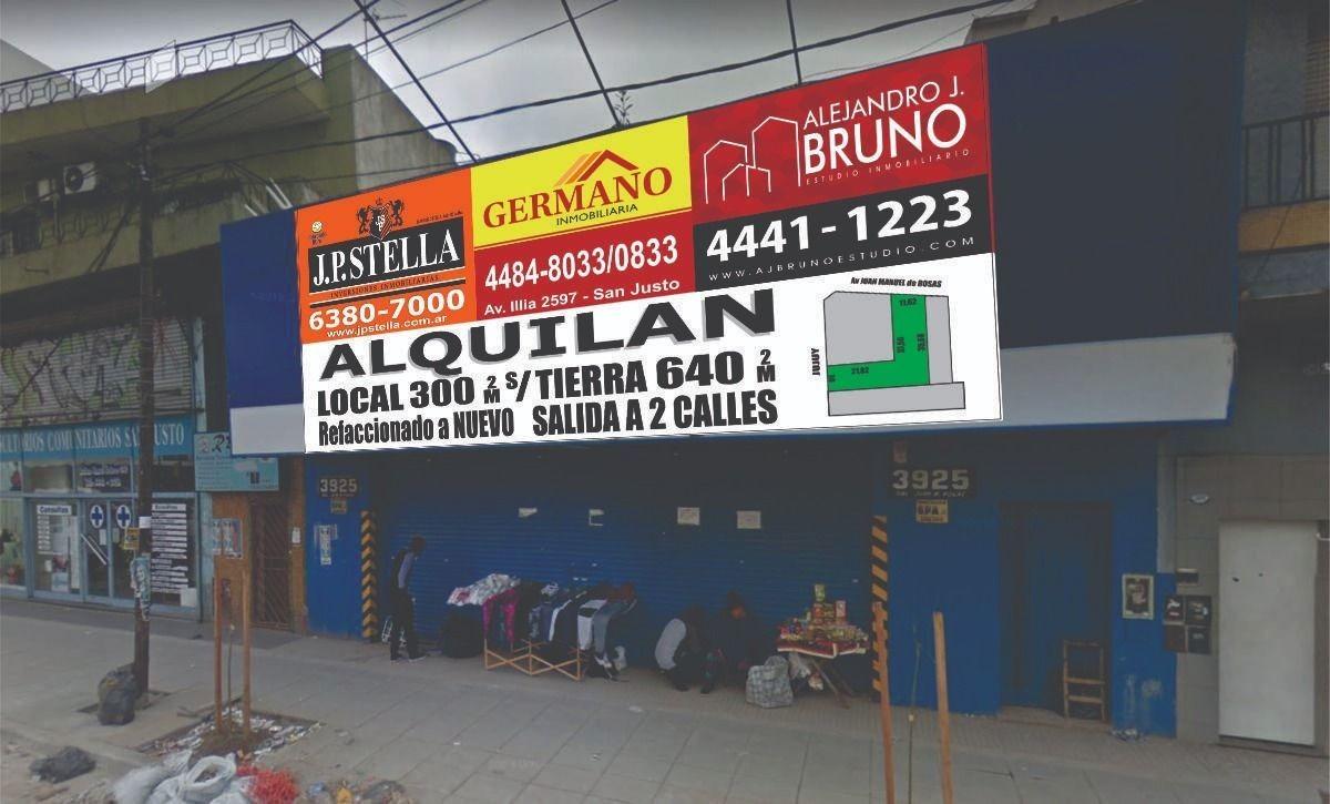 nuevo local comercial- 300 m2 - 640 m2 totales-zona shopp