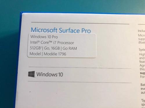 nuevo microsoft surface pro 5 12.3in 2017 core original