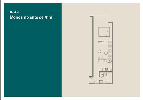 nuevo monombiente 41m2 venta en pozo en güemes
