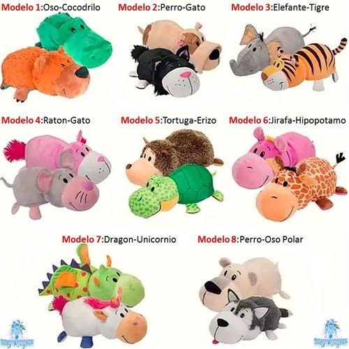 nuevo muñeco  peluche animales flipazoo jirafa - hipopotamo