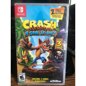 Nuevo Nintendo Switch Crash Bandicoot Nsane Trilogy + Bono