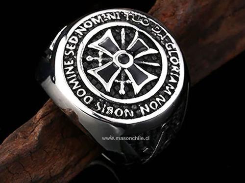 nuevo nuevo anillo masónico templario  exclusivo original