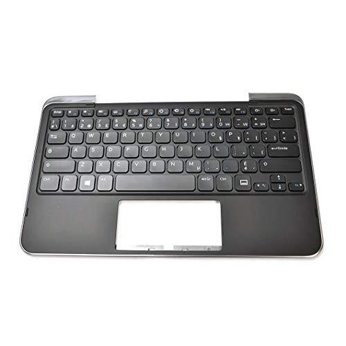81-Key CF Clavier PK130S81A01 FRENCH CANADIAN Keyboard V136602AS1 C43FM New 05XRJ Genuine OEM Dell XPS 10 Tablet Dock Palmrest Module