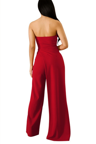 nuevo outfit palazzo jumpsuit rojo pierna abierta sexy