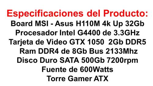 nuevo pc gamer intel g4400  gtx1050 ddr5, ram 8gb gtia 3años