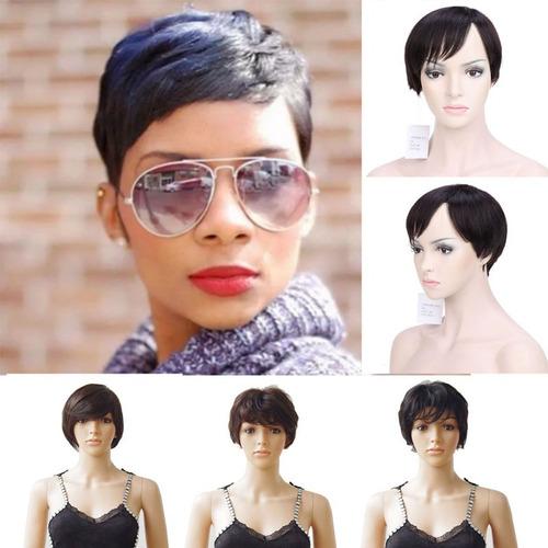 nuevo peinado 100% pelo humano remy pelucas llenas corto