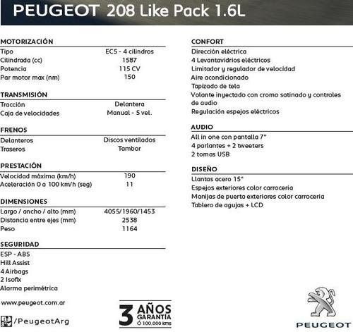 nuevo peugeot 208 like - avec peugeot
