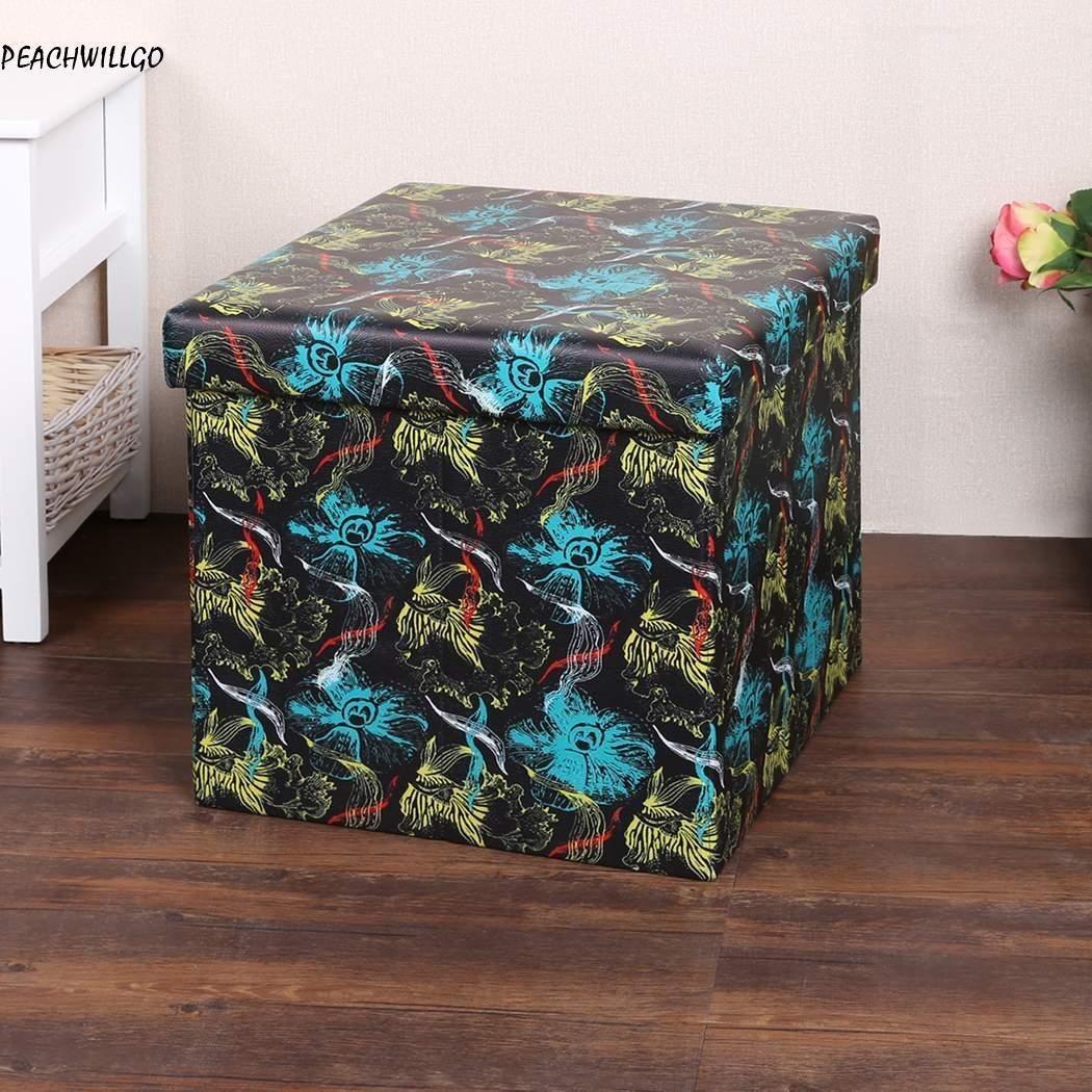 Encantador Cubo De Cuero Negro Muebles Otomana Elaboración - Muebles ...