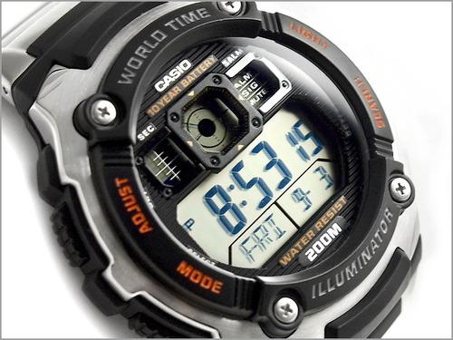 nuevo reloj casio ae2000  sumergible 200 mts 5 alarmas